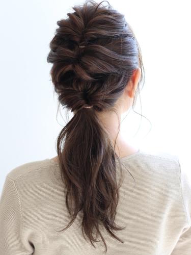 30代に似合うショートのヘアアレンジ19