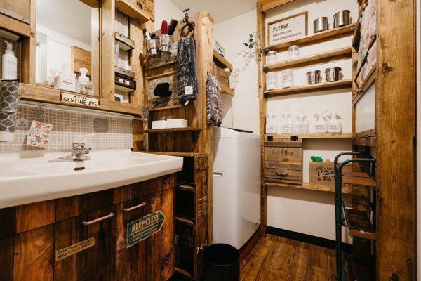 ディアウォールの洗面所DIY活用アイデア
