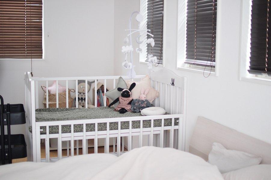 寝顔が確認できる寝室レイアウト