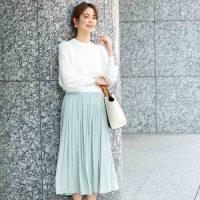 【30代】ときめくスカートコーデ集♡シンプルでちょい甘な今旬スタイル