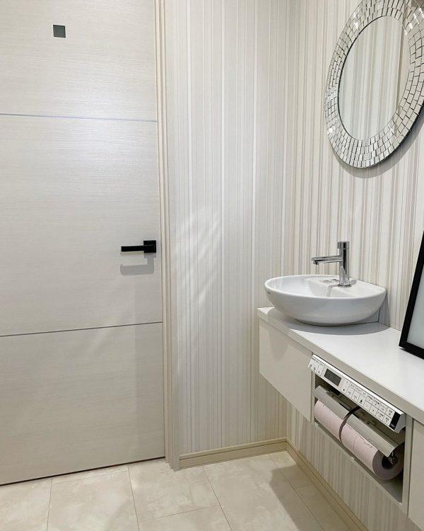 洗面鏡が豪華なトイレ