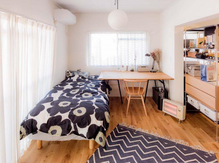 「一人暮らしタイプのお部屋」の家具配置事例wf