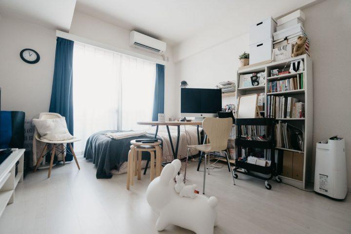 「一人暮らしタイプのお部屋」の家具配置事例