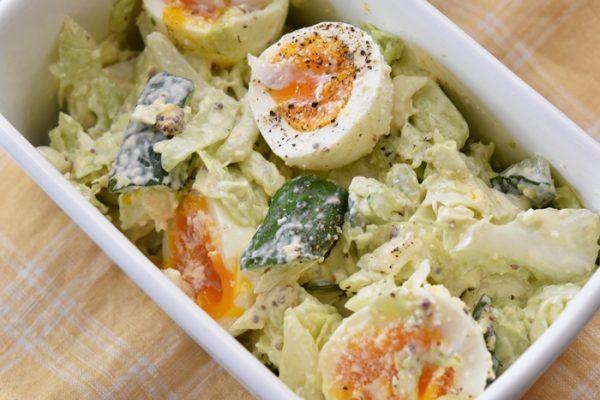 春キャベツと卵のデリ風サラダレシピ9