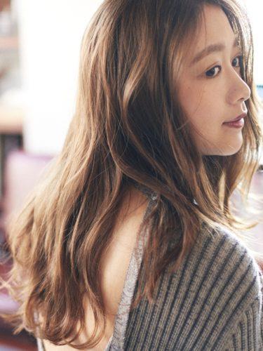 30代におすすめ♡ロング×パーマ(前髪なし)3