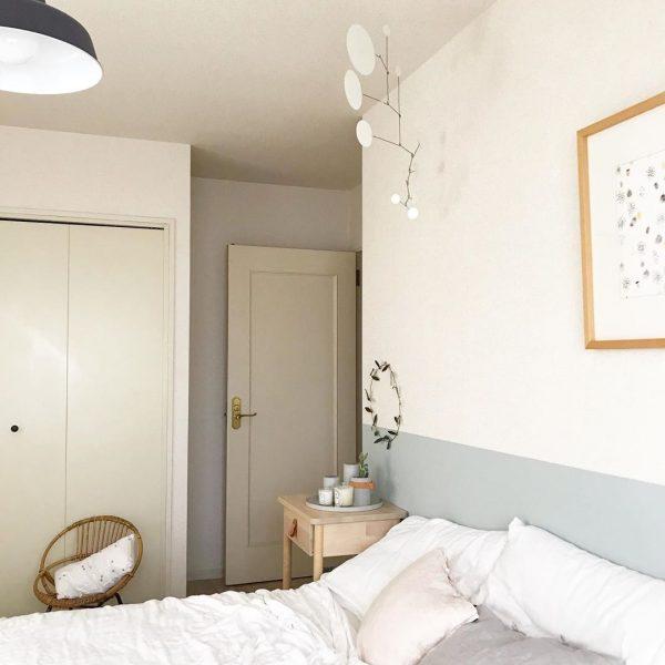 2トーンカラーの寝室