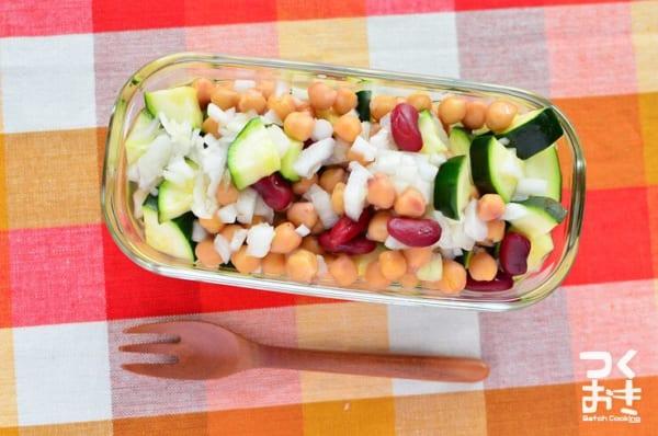 人気のおつまみレシピ!ズッキーニとひよこ豆サラダ