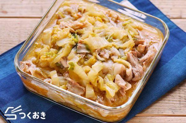 簡単なレシピに!豚バラ肉と白菜のうま煮