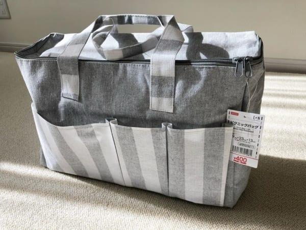おむつ入れに使えるピクニックバッグ