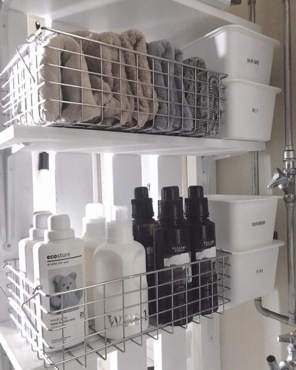 洗面所の収納アイデア5