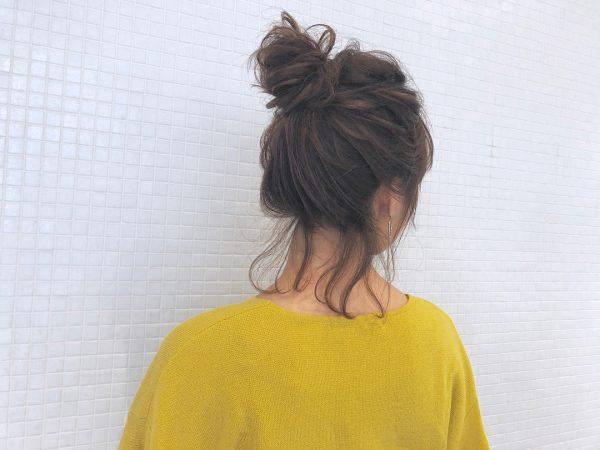 長めボブがすっきりまとまるヘアアレンジ