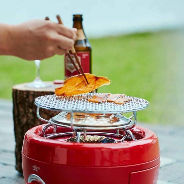 アウトドア調理が楽しくなる火鉢型カセットコンロ
