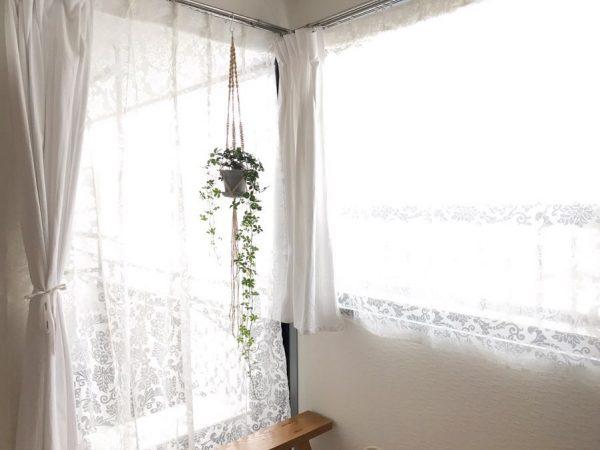 麻紐を使ったマクラメ編みのプラントハンガー