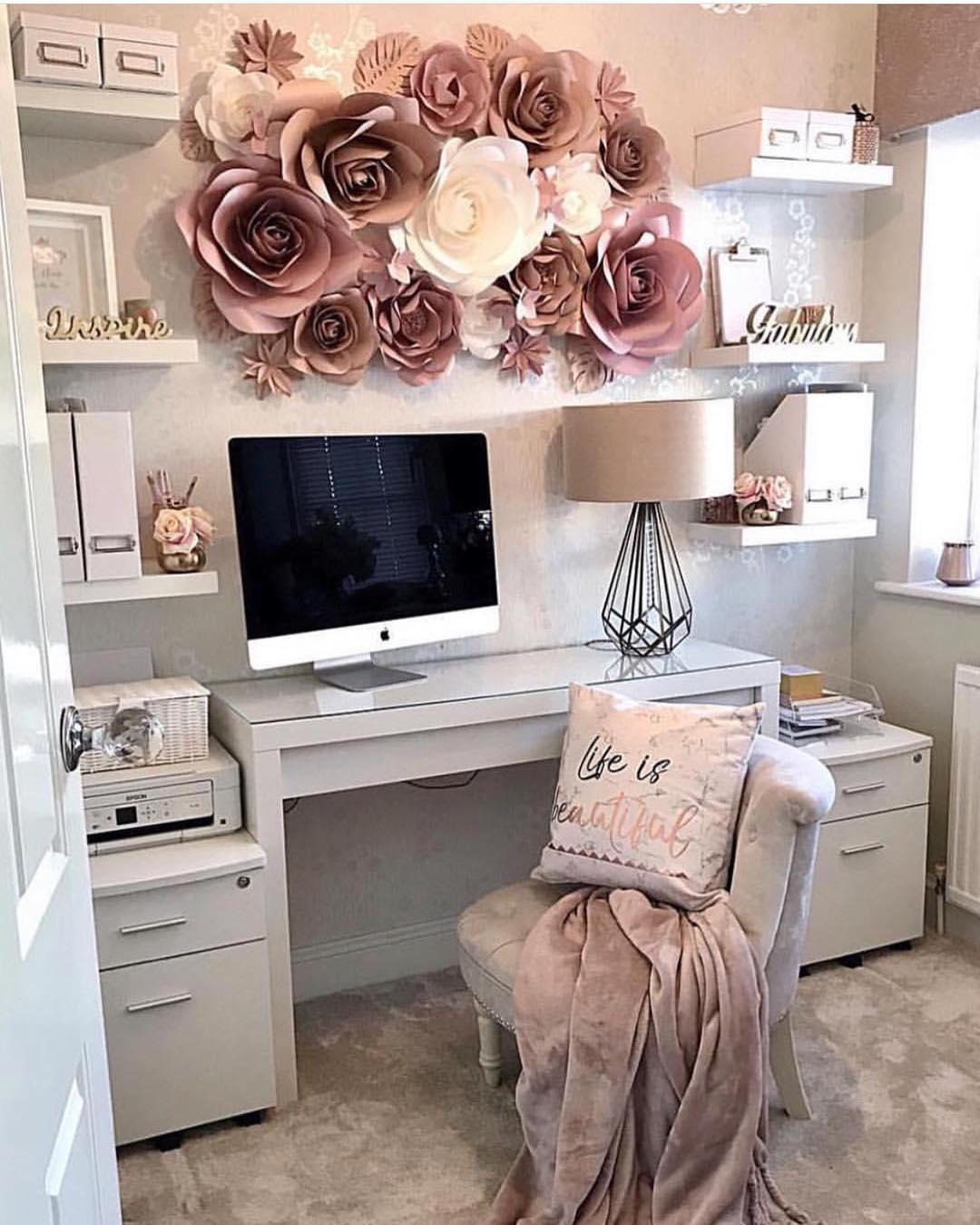 ロマンチックな作業スペース