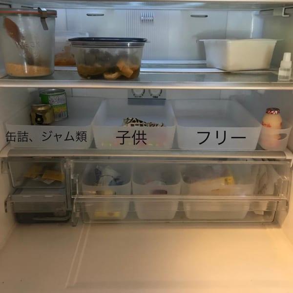 整理ケースは冷蔵庫収納にぴったり