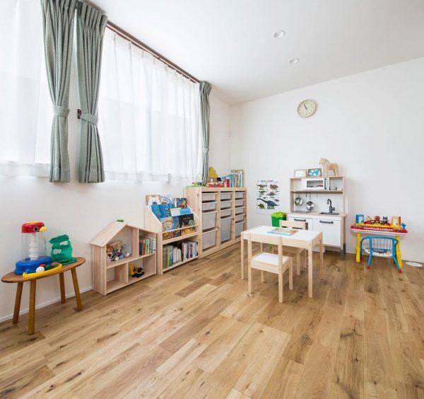 2つの部屋をつなげた子供部屋