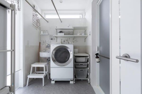 物の多さを感じない洗濯スペース