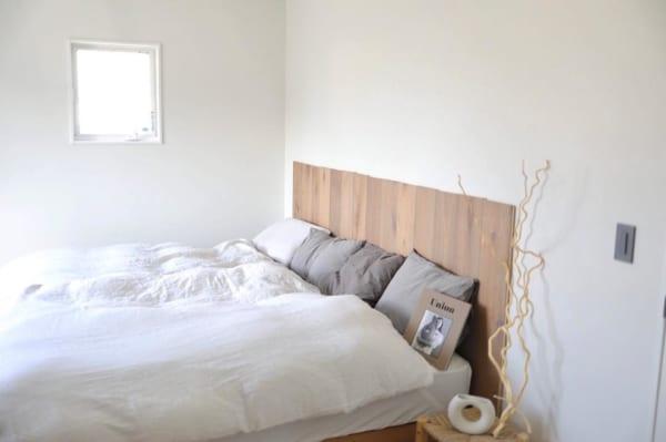 端材を使ったアイデア寝室