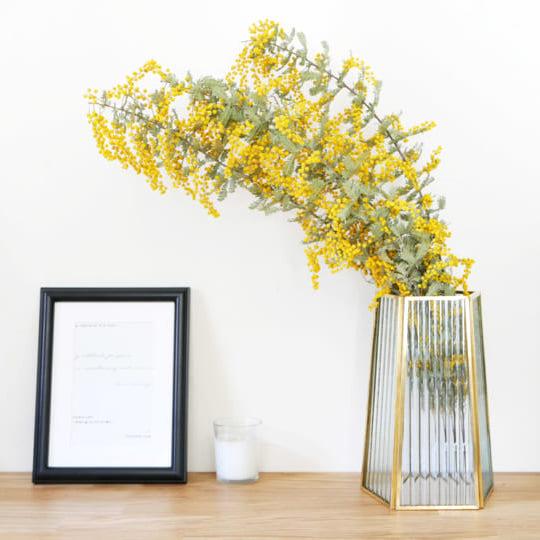 きらりと輝く真鍮とクリアなガラス♪シックな「フラワーベース」