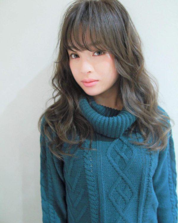 30代におすすめ♡ロング×パーマ(前髪あり)5