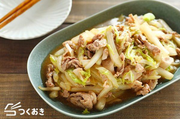 人気の料理に!豚肉と白菜の中華炒め