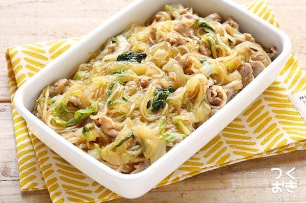 絶品の人気料理!白菜と豚肉の春雨煮