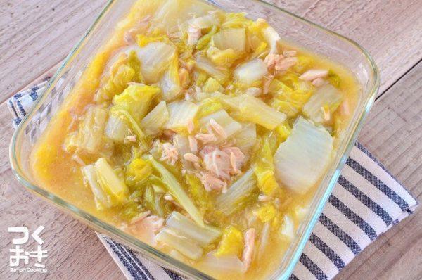 簡単にできるおかずに!白菜とツナのうま煮