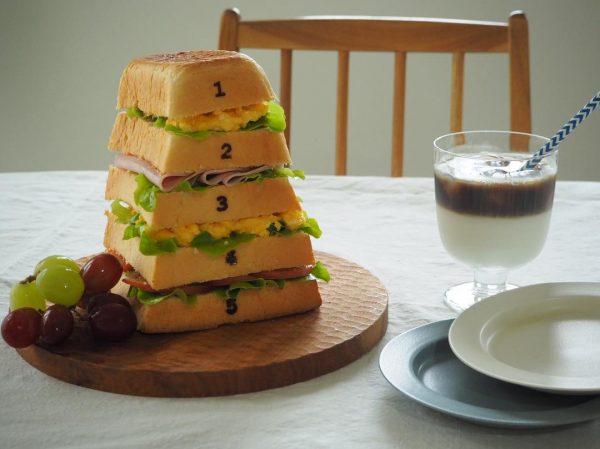 おうちご飯 跳び箱パン サンドイッチ
