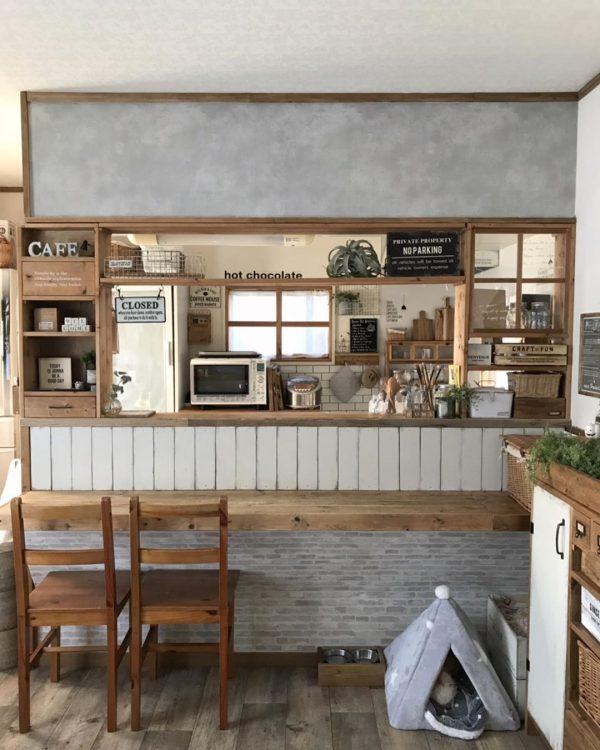 キッチンカウンター DIYアイデア2