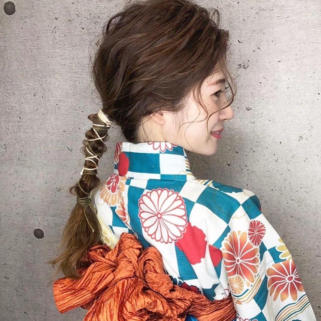 浴衣に似合うミディアムヘアアレンジ特集♪自分でできる大人可愛い髪型をご紹介!