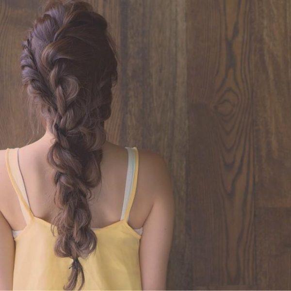 お祭りに似合う髪型【ロング×編み下ろし】4
