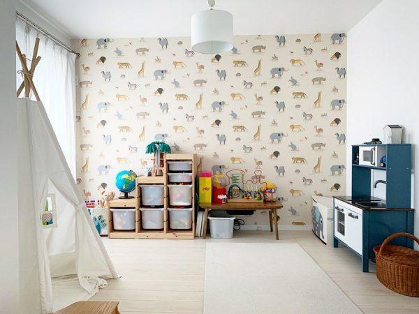 壁紙が可愛い子供部屋