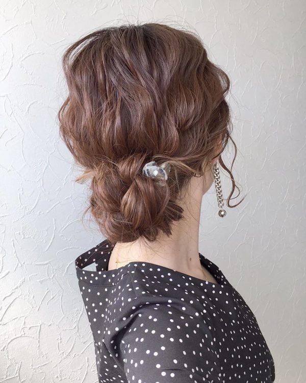レディなデート向けロングの髪型