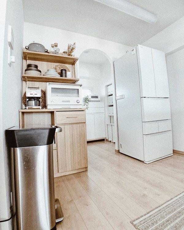 キッチン家電はホワイトで統一