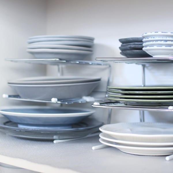 ディッシュラックを使った食器棚収納実例