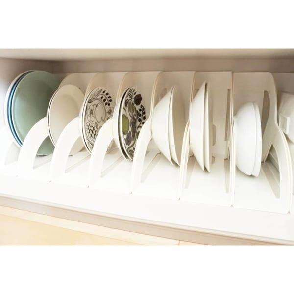 ファイルケースを使った食器棚収納実例