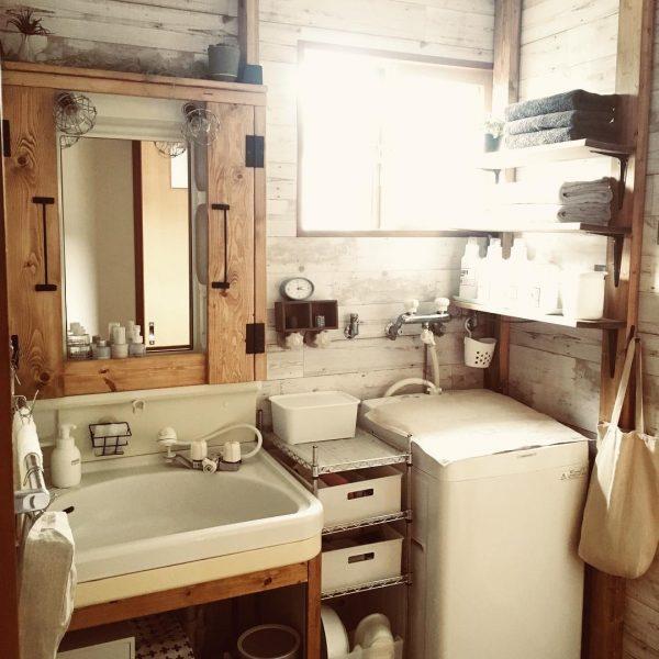 ディアウォールの洗面所DIY活用アイデア3