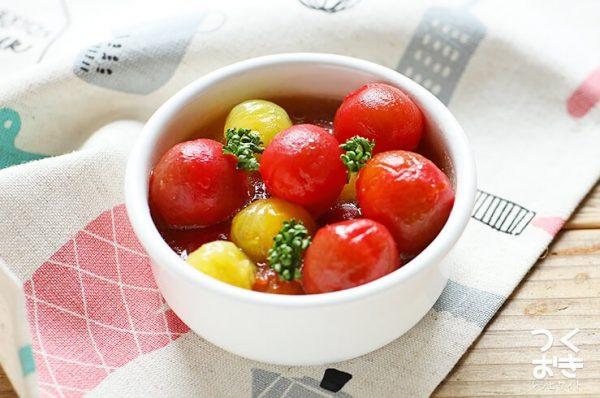 簡単でおしゃれなミニトマトのはちみつマリネ
