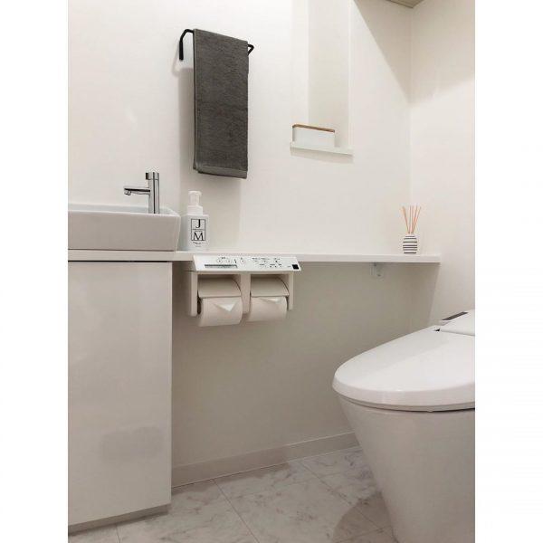 お手洗いも極シンプルが◎
