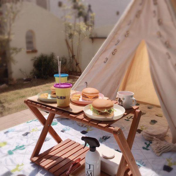 おうちキャンプを快適に楽しめる