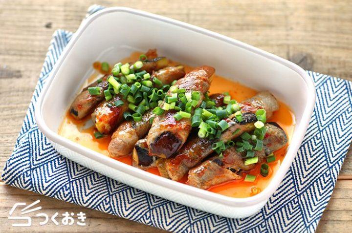 簡単なおつまみ料理!なすの豚バラ中華風