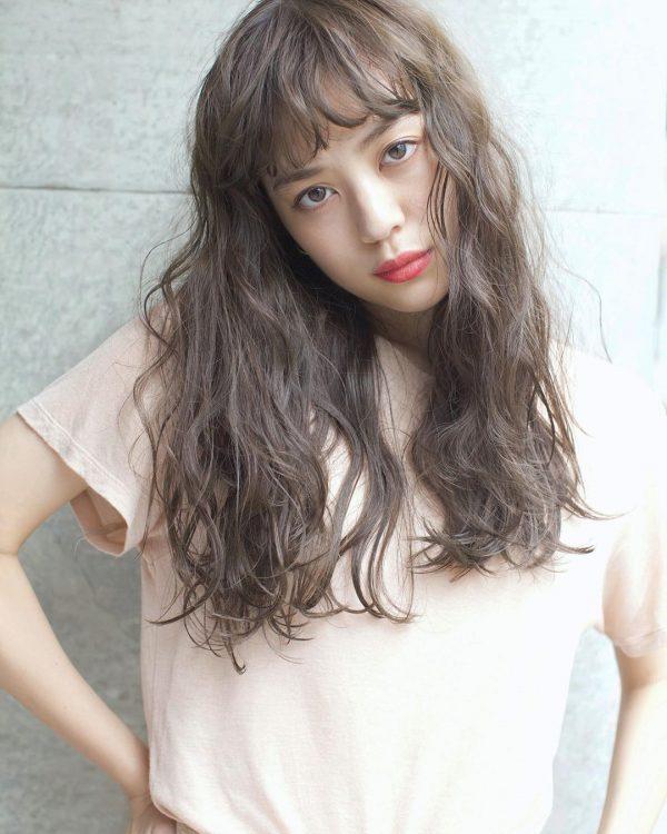 30代におすすめ♡ロング×パーマ(前髪あり)3