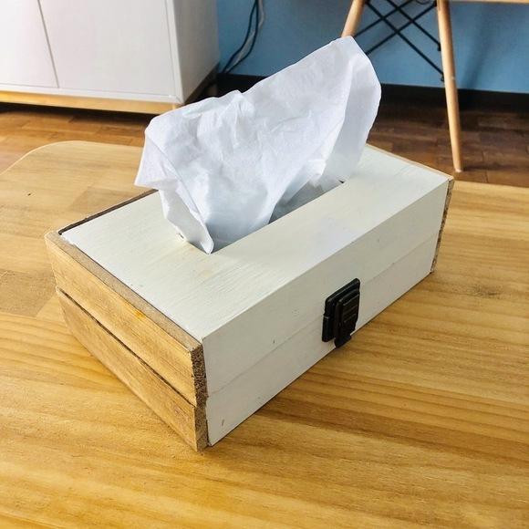 人気の木箱のDIYアイデア☆ティッシュケース