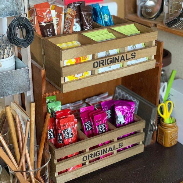 木製インテリア仕切りボックス