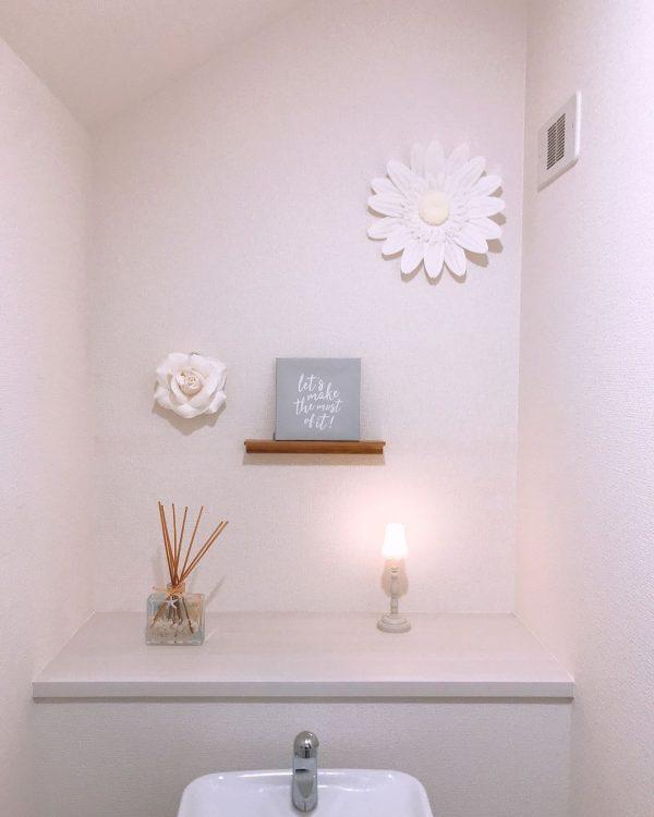 キャンドゥのアートパネルを飾ったトイレ