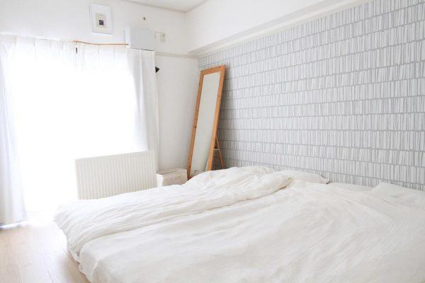 シンプルで気持ちの良いベッドルーム