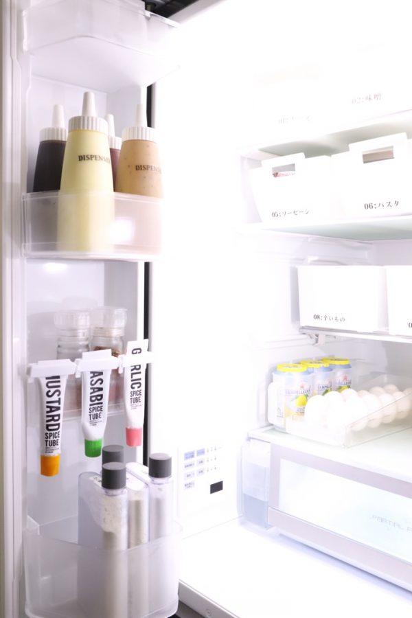 冷蔵庫ドアポケットの収納アイデア《セリア》2