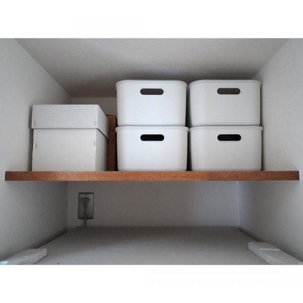 冷蔵庫上のデッドスペースに収納
