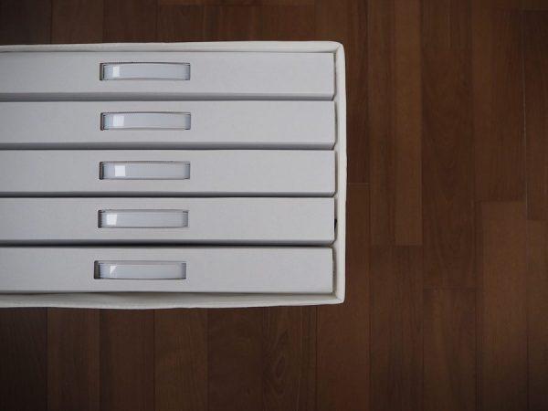作品収納ケース+IKEA商品を使う