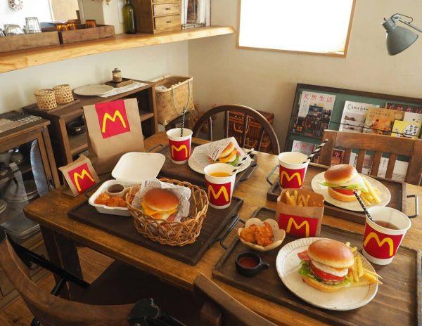 マクドナルド風 ハンバーガー ランチ